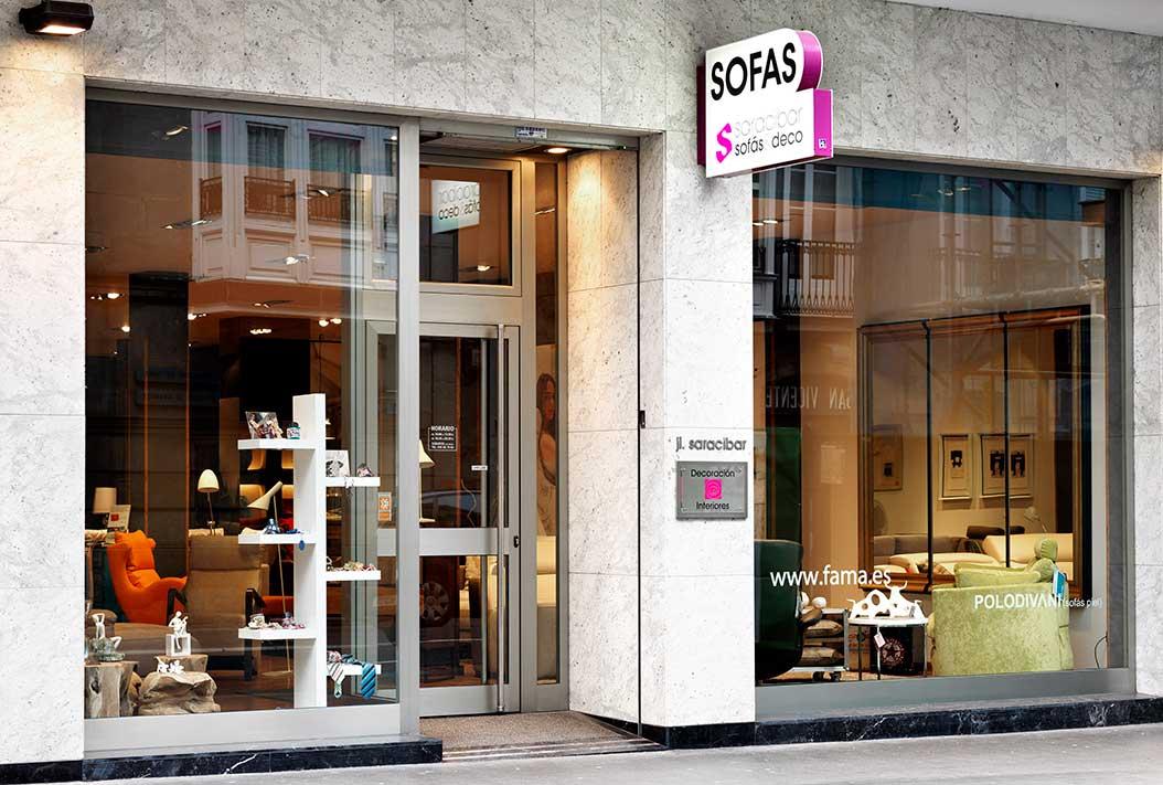 fachada saracibar sofás & deco, tienda de sofás en vitoria